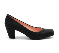 United Nude: Pumps, Elastic Pump Mid, Black Rib Elastic