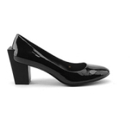 United Nude: Pumps, Block Pump Mid, Black Patent Leather